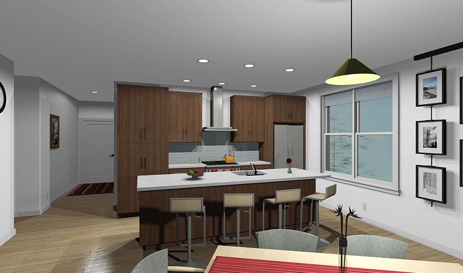 19 Ocean Ave Kitchen Rendering