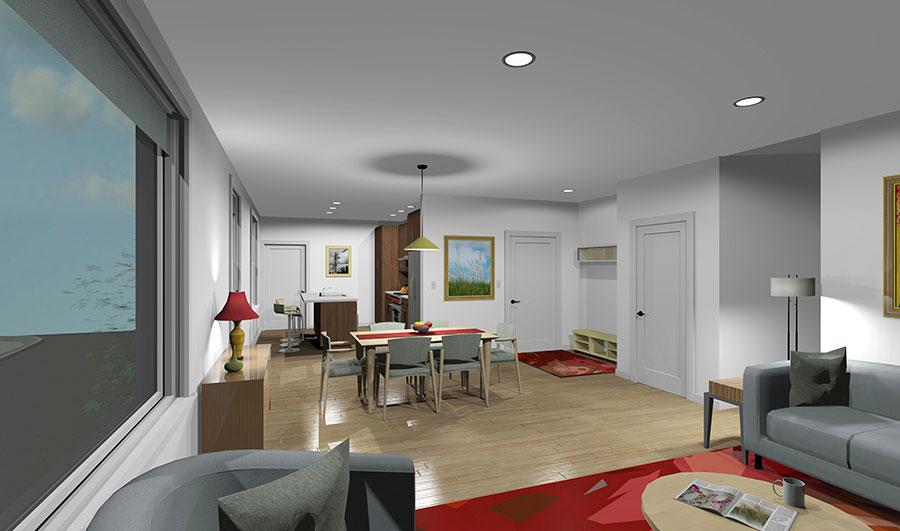 19 Ocean Ave Living Room Rendering